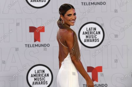 Gaby Espino arrives at the Latin American Music Awards at the BB&T Center, in Sunrise, Fla