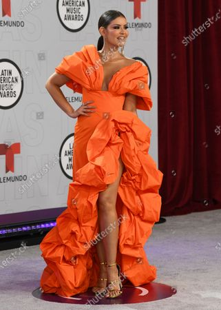Vanessa Claudio arrives at the Latin American Music Awards at the BB&T Center, in Sunrise, Fla