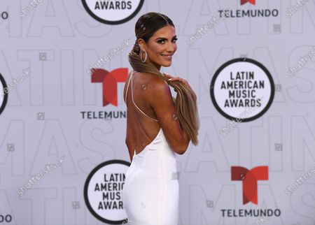 Stock Image of Gaby Espino arrives at the Latin American Music Awards at the BB&T Center, in Sunrise, Fla