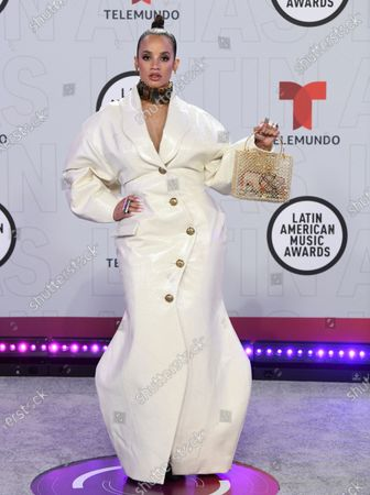 Dascha Polanco arrives at the Latin American Music Awards at the BB&T Center, in Sunrise, Fla