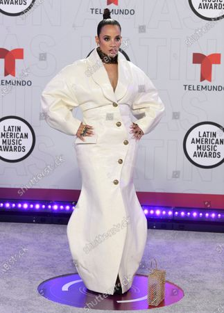 Stock Picture of Dascha Polanco arrives at the Latin American Music Awards at the BB&T Center, in Sunrise, Fla
