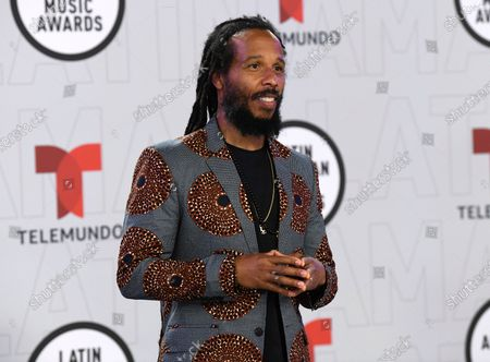 Stock Image of Ziggy Marley arrives at the Latin American Music Awards at the BB&T Center, in Sunrise, Fla