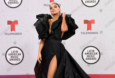 Ana Barbara arrives at the Latin American Music Awards at the BB&T Center, in Sunrise, Fla