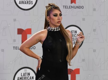 Stock Photo of Kali Uchis arrives at the Latin American Music Awards at the BB&T Center, in Sunrise, Fla