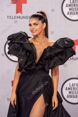 Ana Barbara arrives on the red carpet for the Sixth Annual Latin American Music Awards at the BB&T Center in Sunrise, Florida, USA, 15 April 2021. The Latin American Music Award nominations are based on fan interactions with music in areas of sales, streaming and airplay as tracked by Billboard for the period 17 January 2020 through 21 January 2021.