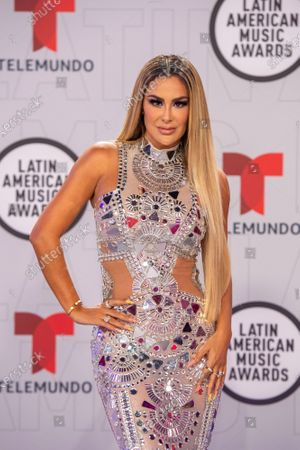 Ninel Conde arrives on the red carpet for the Sixth Annual Latin American Music Awards at the BB&T Center in Sunrise, Florida, USA, 15 April 2021. The Latin American Music Award nominations are based on fan interactions with music in areas of sales, streaming and airplay as tracked by Billboard for the period 17 January 2020 through 21 January 2021.