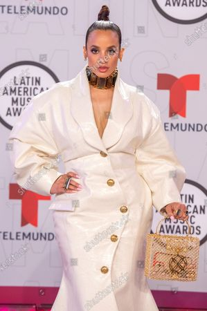 Stock Photo of Dascha Polanco arrives on the red carpet for the Sixth Annual Latin American Music Awards at the BB&T Center in Sunrise, Florida, USA, 15 April 2021. The Latin American Music Award nominations are based on fan interactions with music in areas of sales, streaming and airplay as tracked by Billboard for the period 17 January 2020 through 21 January 2021.