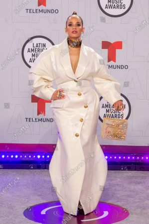 Stock Image of Dascha Polanco arrives on the red carpet for the Sixth Annual Latin American Music Awards at the BB&T Center in Sunrise, Florida, USA, 15 April 2021. The Latin American Music Award nominations are based on fan interactions with music in areas of sales, streaming and airplay as tracked by Billboard for the period 17 January 2020 through 21 January 2021.