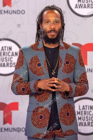 Ziggy Marley arrives on the red carpet for the Sixth Annual Latin American Music Awards at the BB&T Center in Sunrise, Florida, USA, 15 April 2021. The Latin American Music Award nominations are based on fan interactions with music in areas of sales, streaming and airplay as tracked by Billboard for the period 17 January 2020 through 21 January 2021.