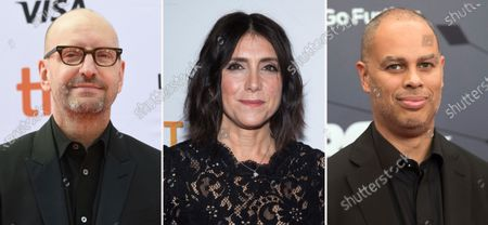 Producers Steven Soderbergh, from left, Stacey Sher and Jesse Collins. Soderbergh's concept for the 93rd Academy Awards show on ABC, which he's producing with Sher and Collins, is to treat the telecast not like a TV show but a movie. The base of the show won't be at the Academy Awards' usual home, but held at Union Station, the airy, Art Deco-Mission Revival railway hub in downtown Los Angeles
