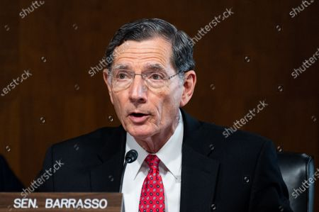 Stock Picture of U.S. Senator John Barrasso (R-WY) speaks at a hearing of the Senate Energy and Natural Resources Committee.