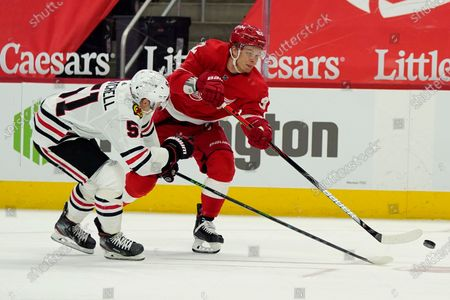 Editorial photo of Blackhawks Red Wings Hockey, Detroit, United States - 15 Apr 2021
