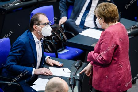 Editorial image of German parliament discusses Protection against Infection act, Berlin, Germany - 16 Apr 2021