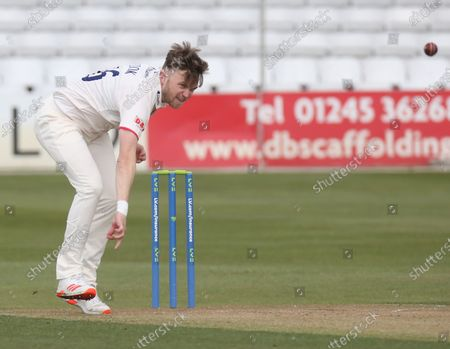 Stock Picture of Essex's Simon Cook  during   LV Insurance County Championship Group 1 Day One  of Four between Essex CCC and Durham CCC at The Cloudfm County Ground on 15th April , 2021 in Chelmsford, England