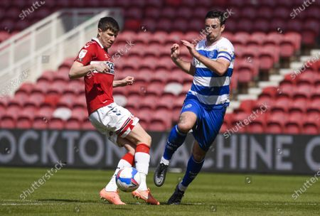 Paddy McNair of Middlesbrough and Lee Wallace of QPR