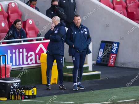 Stock Photo of Gary Rowett manager of Millwall (r)