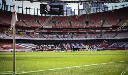 Editorial picture of Arsenal v Fulham, Premier League, Football, The Emirates Stadium, London, UK - 18 Apr 2021