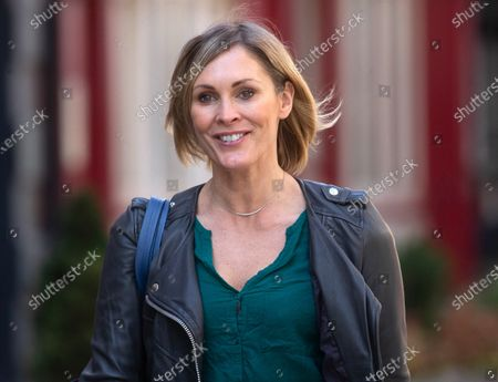 Jenni Falconer out and about.