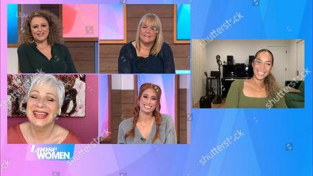 Nadia Sawalha, Linda Robson, Denise Welch, Stacey Solomon and Leona Lewis