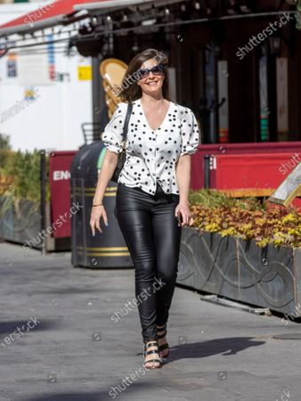 Editorial image of Lucy Horobin out and about, London, UK - 16 Apr 2021