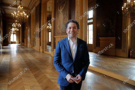 Gustavo Dudamel at the Palais Garnier opera house, in Paris