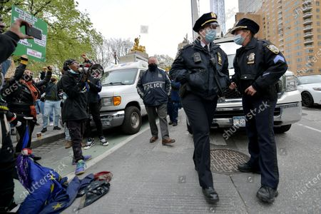 Policing the Police at Columbus Circle, New York