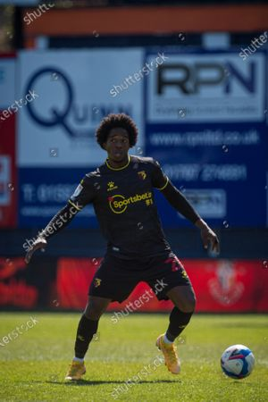 Carlos Sanchez of Watford.; Kenilworth Road, Luton, Bedfordshire, England; English Football League Championship Football, Luton Town versus Watford.