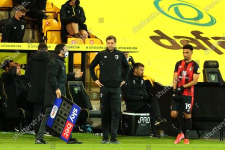 Bournemouth Manager Jonathan Woodgate; Carrow Road, Norwich, Norfolk, England, English Football League Championship Football, Norwich versus Bournemouth.