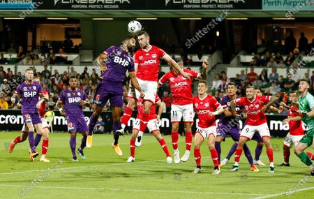 Editorial image of Perth Glory v Wellington Phoenix, Australian A-League, Football, HBF Park, Perth, Australia - 18 Apr 2021