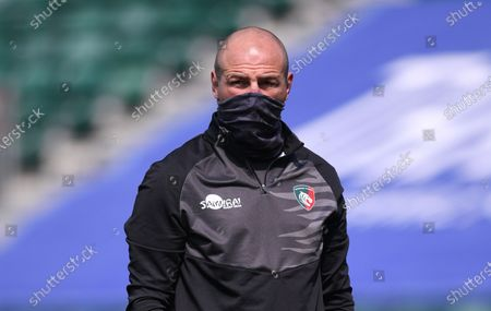 Stock Photo of Steve Borthwick Director of Rugby for Leicester Tigers; 18th April 2021 2021; Recreation Ground, Bath, Somerset, England; English Premiership Rugby, Bath versus Leicester Tigers.
