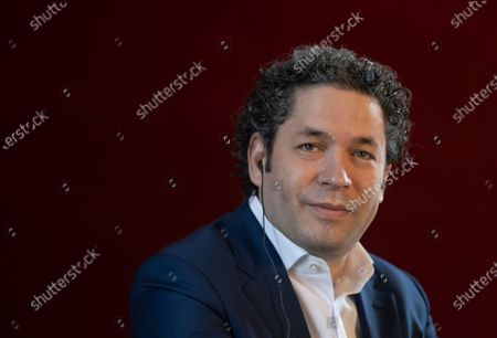 Stock Picture of Venezuelan conductor Gustavo Dudamel attends a news conference in Paris, France, 16 April 2021. Dudamel was appointed as the new music director of the Paris Opera house.