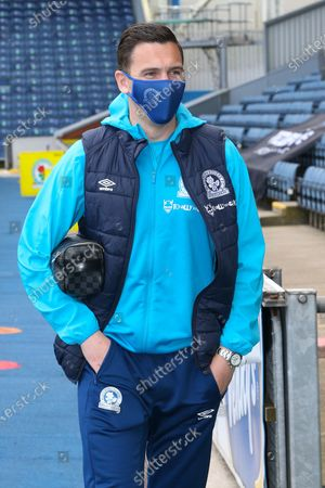 Blackburn Rovers midfielder Stewart Downing (6) arriving for the EFL Sky Bet Championship match between Blackburn Rovers and Derby County at Ewood Park, Blackburn