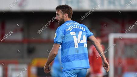 Cheltenham Town's Andy Williams during the EFL Sky Bet League 2 match between Crawley Town and Cheltenham Town at The People's Pension Stadium, Crawley