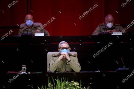 Army General Raul Castro Ruz (C), First Secretary of the Central Committee of the Communist Party of Cuba (CC PCC), attends the VIII Congress of the Communist Party of Cuba in Havana, Cuba, 16 April 2021. Castro is stepping down as the leader of the party.