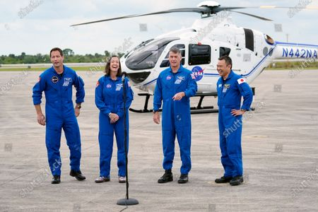SpaceX Crew 2 astronauts at Cape Canaveral, Florida