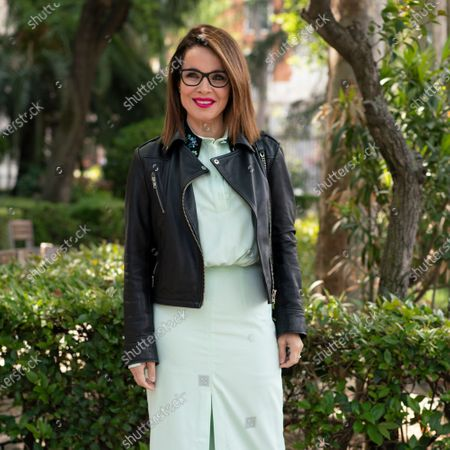 Editorial picture of Carme Chaparro portrait session, Madrid, Spain - 16 Apr 2021
