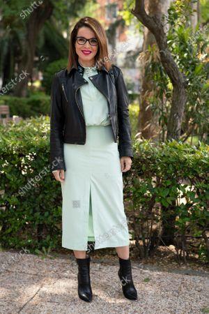 Editorial photo of Carme Chaparro portrait session, Madrid, Spain - 16 Apr 2021