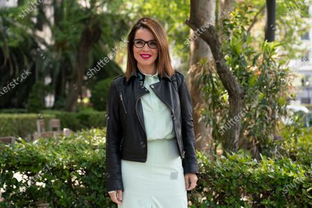 Stock Photo of The writer Carme Chaparro poses during the portrait session in Madrid, Spain, on April 16, 2021.