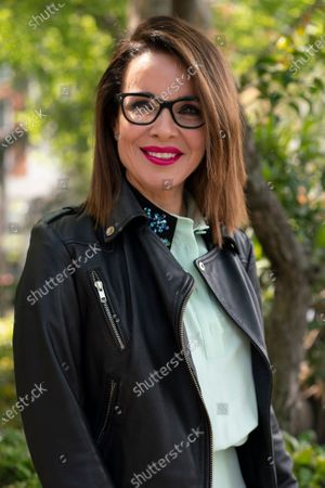 The writer Carme Chaparro poses during the portrait session in Madrid, Spain, on April 16, 2021.