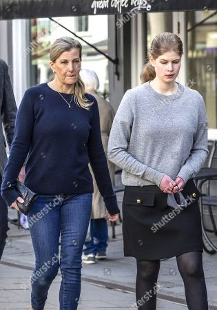 Sophie Countess of Wessex and Lady Louise Windsor out and about, Windsor