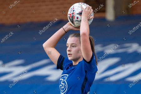 Stock Photo of Jorja Fox (29 Chelsea) during the Vitality Womens FA Cup game between Chelsea and London City Lionesses at Kingsmeadow, in Kingston, England.