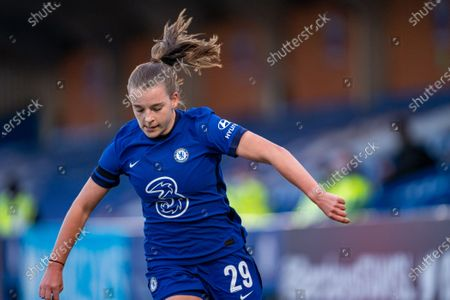 Jorja Fox (29 Chelsea)during the Vitality Womens FA Cup game between Chelsea and London City Lionesses at Kingsmeadow, in Kingston, England.