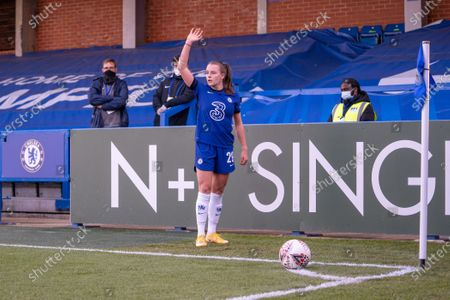 Editorial picture of Chelsea v London City Lionesses, Vitality Womens FA Cup, Kingsmeadow Kingston, UK - 16 Apr 2021