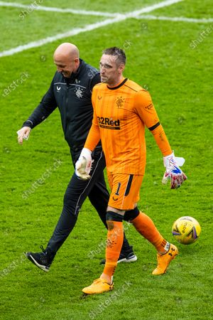 Rangers goalkeeper Allan McGregor celebrates at the end withAssistant Manager Gary McAllister during the Scottish Cup match at Ibrox Stadium, Glasgow.