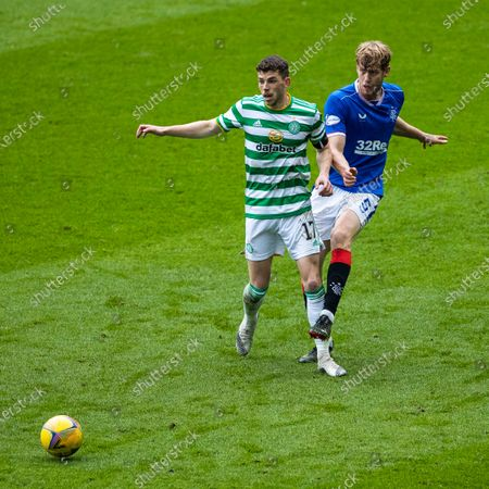 Filip Helander of Rangers and Ryan Christie of Celtic during the Scottish Cup match at Ibrox Stadium, Glasgow.
