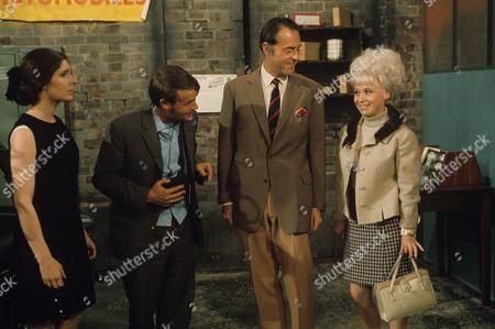 Jack Smethurst, Terence Alexander and Barbara Windsor