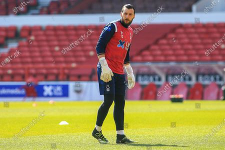 Stock Image of Jordan Smith (12)  of Nottingham Forestin the warm up session during the EFL Sky Bet Championship match between Nottingham Forest and Huddersfield Town at the City Ground, Nottingham