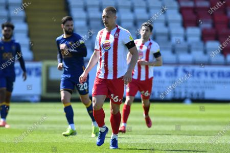 Luke Norris of Stevenage FCduring Stevenage vs Mansfield Town, Sky Bet EFL League 2 Football at the Lamex Stadium on 17th April 2021