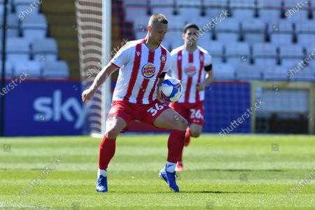 Luke Norris of Stevenage FC during Stevenage vs Mansfield Town, Sky Bet EFL League 2 Football at the Lamex Stadium on 17th April 2021