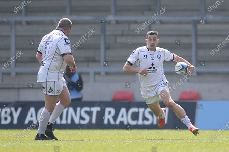 Stock Image of Gloucesters Jonny May during the Gallagher Premiership Rugby match between Sale Sharks and Gloucester Rugby at the AJ Bell Stadium, Eccles
